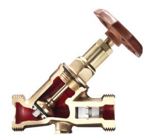 Darstellung eines KFR-Ventil oder Kombiniertes Freistromventil mit Rückflussverhinderer im Schnitt Haustechnik-Wissen