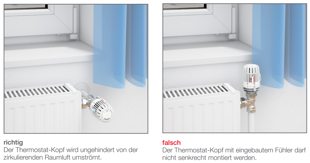 Einbauvorschrift Thermostatventil Haustechnik-Wissen