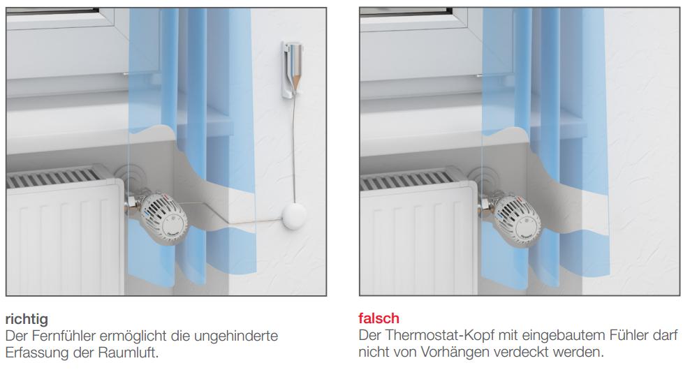 Einbauvorschrift Thermostatventil mit Fernfühler Haustechnik-Wissen