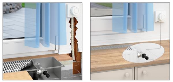 Einbauvorschrift Thermostatventil mit Ferneinsteller Haustechnik-Wissen