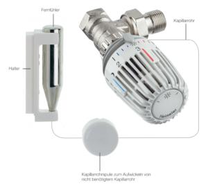 Darstellung eines Thermostatventils mit Fernfühler Haustechnik-Wissen